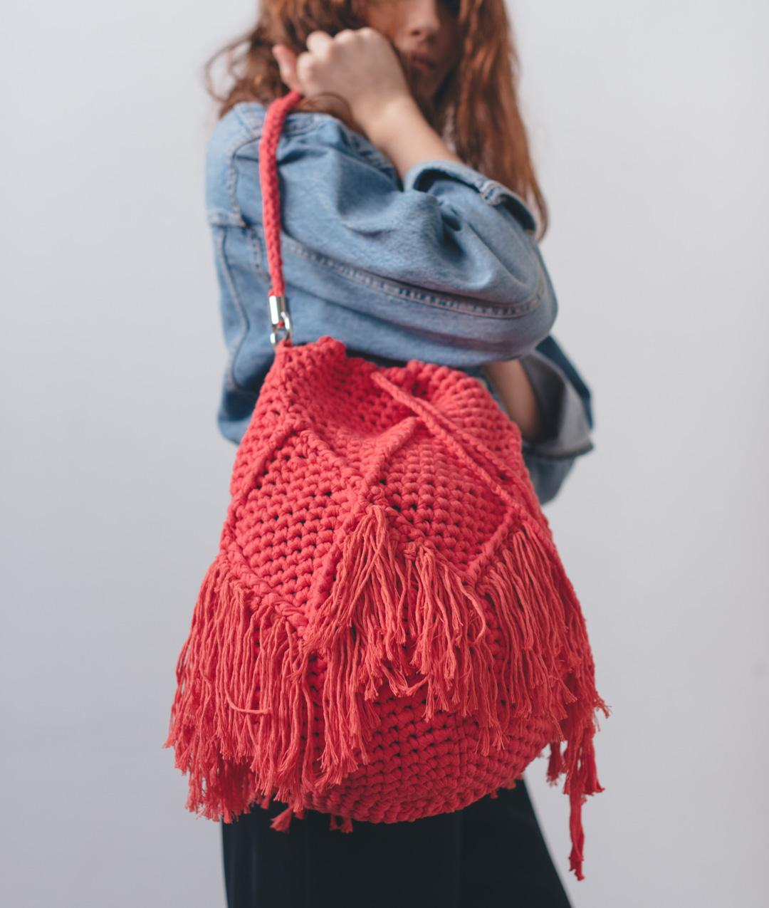 Bags  - Cotton - DIAMOND BUCKET BAG - 1