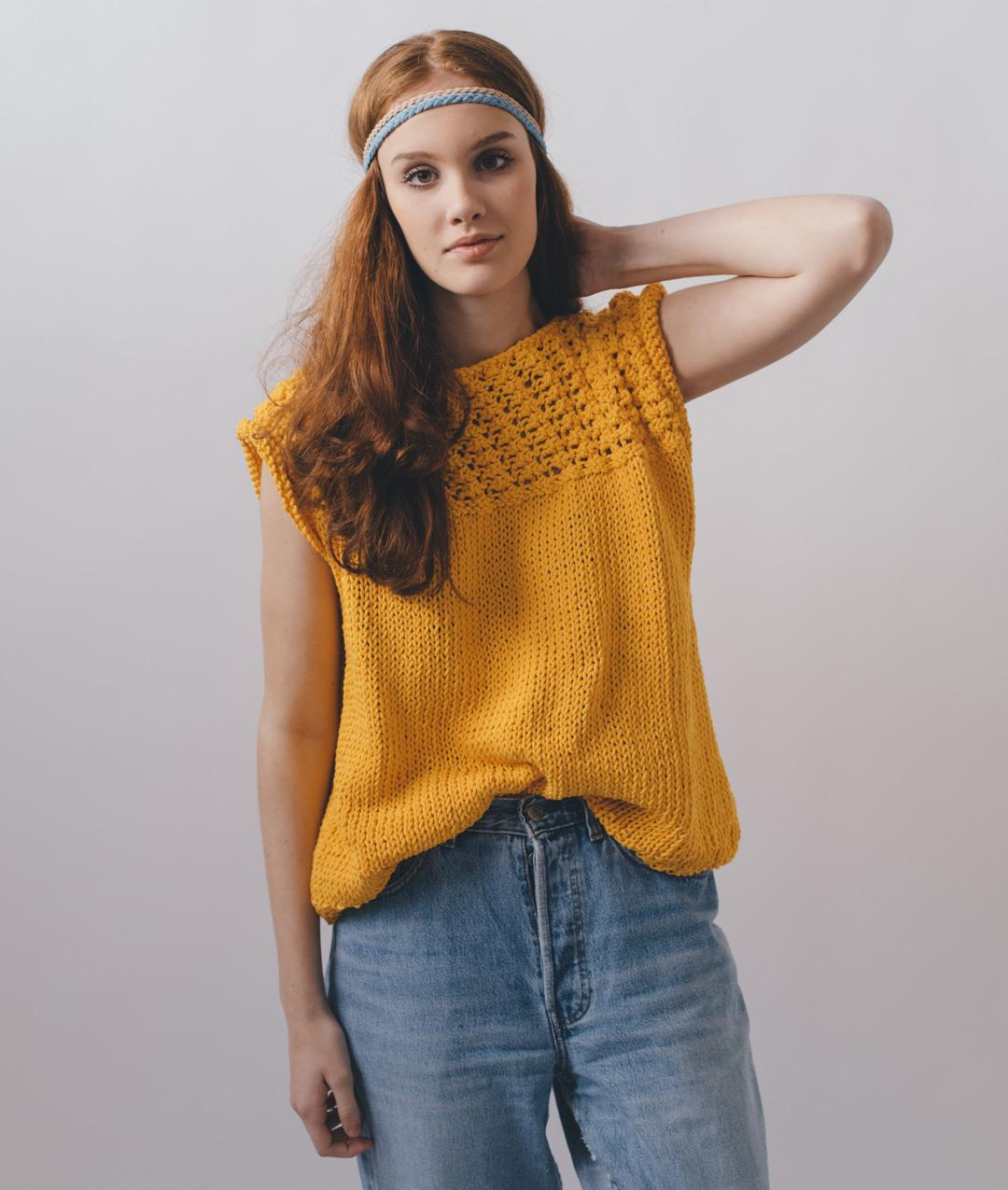 Sweaters and Tops - Cotton - Jenny Tee - 1