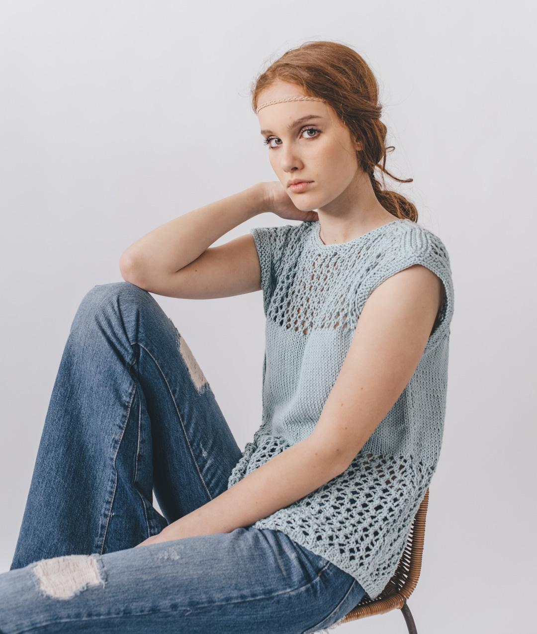 Sweaters and Tops - Cotton - Cristal Tee - 1