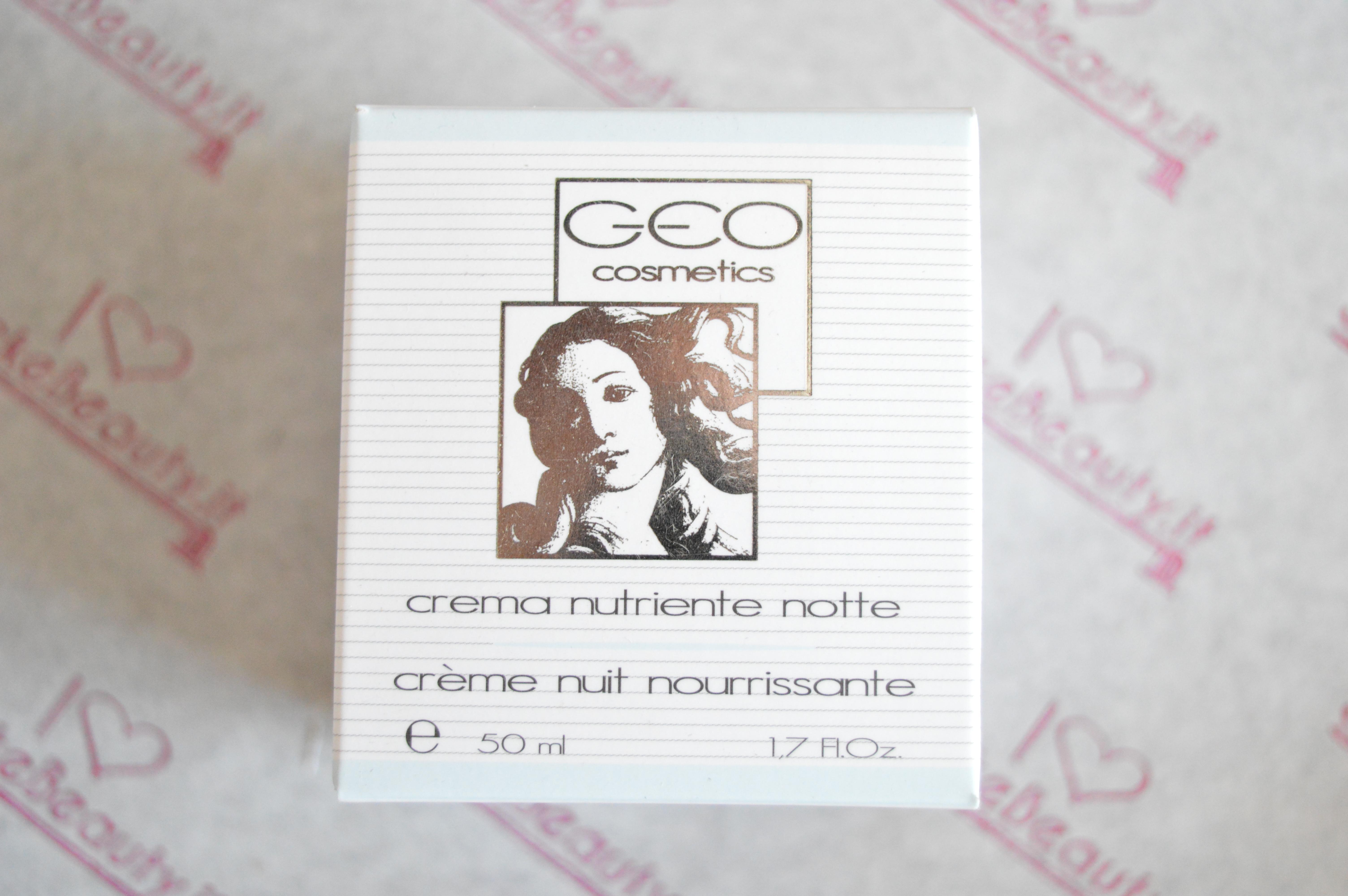 GEO COSMETICS- CREMA NUTRIENTE NOTTE