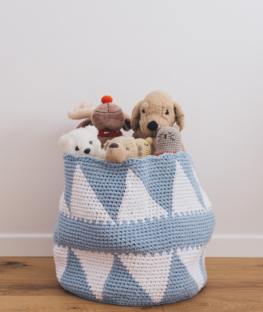 Homeware - Cotton - HAPPY TOYS BASKET - 1
