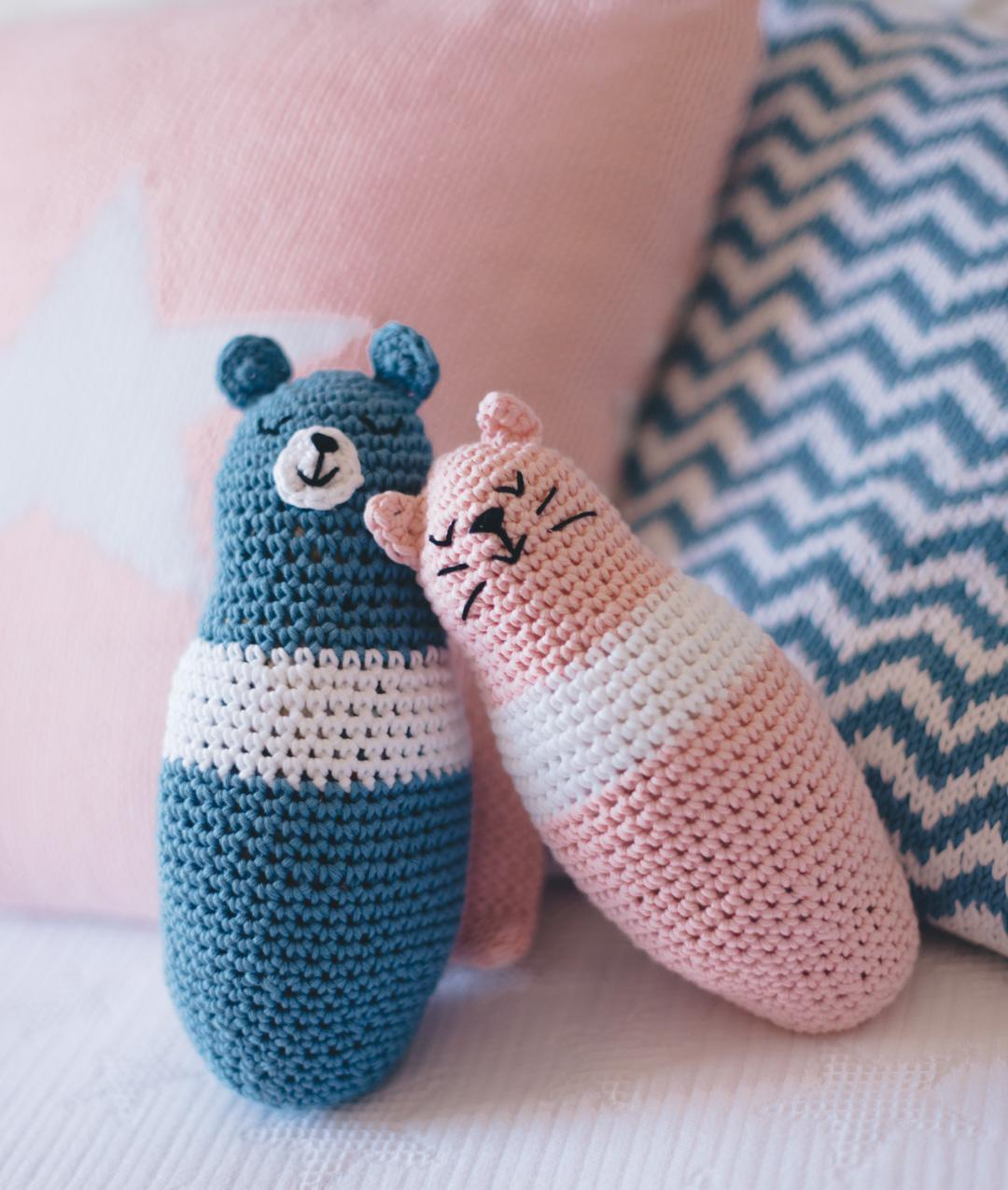 Collezione Home Decor Baby - Casa - TEDDY & KITTY AMIGURUMIS - 1