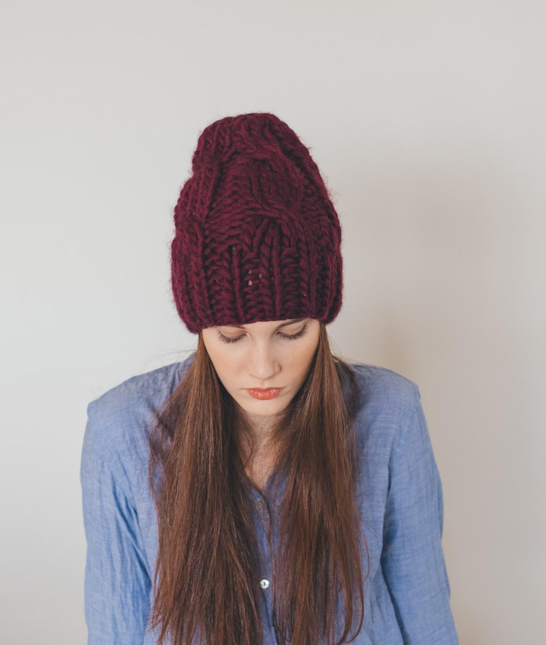 Patterns - Needles & Co. - Cable Beanie Pattern - 1