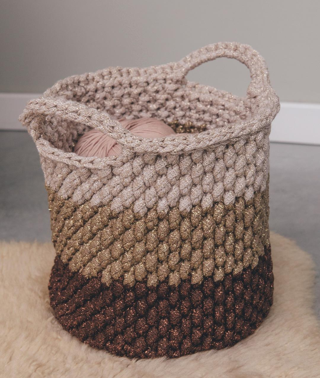 Homeware - WoolHomeware - Wool - SHINY BASKET - 1