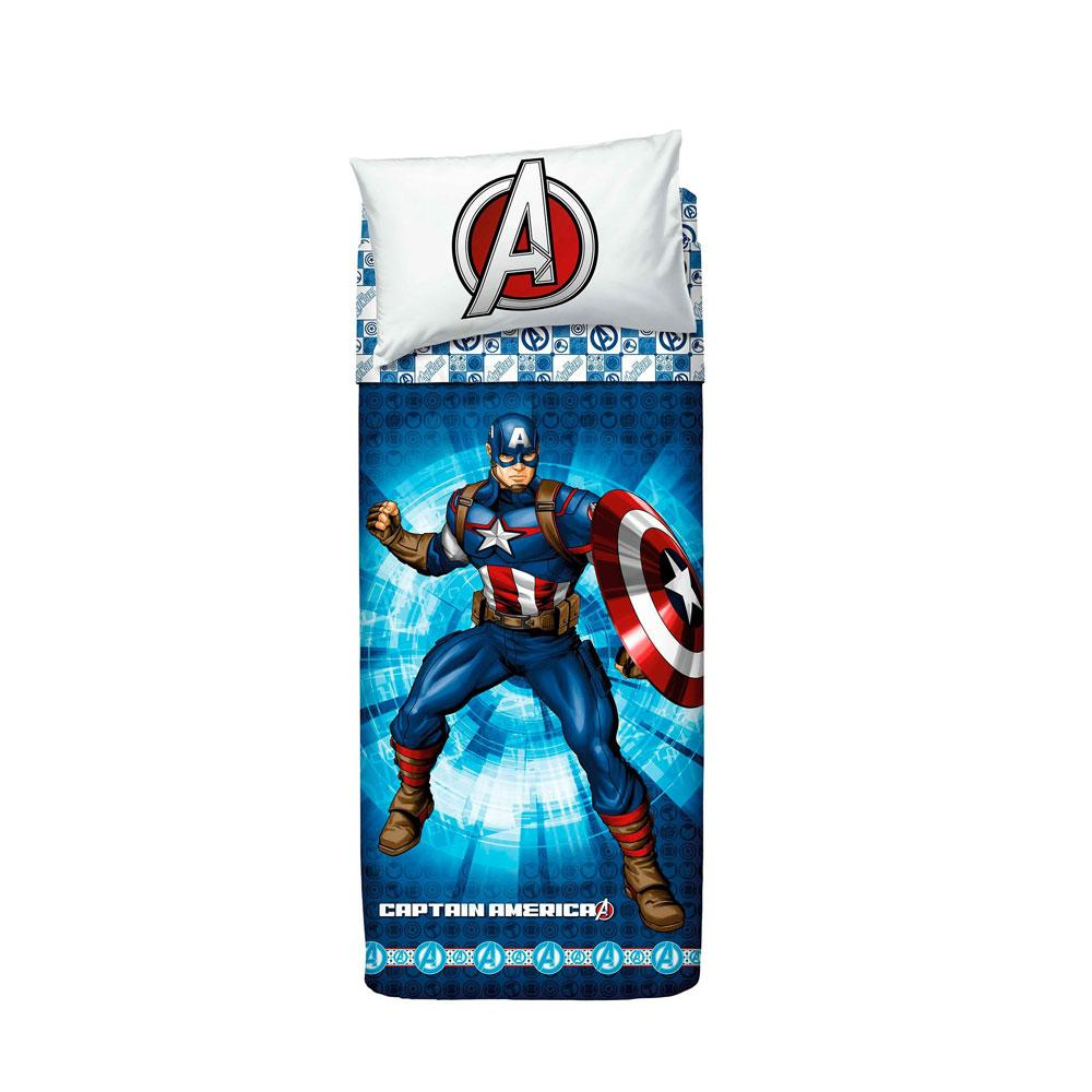Captain America lenzuola letto singolo BASSETTI AVENGERS Capitan America