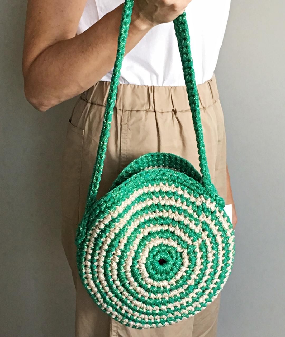 - AROUND ME BAG - Verde/Oro Chiaro -
