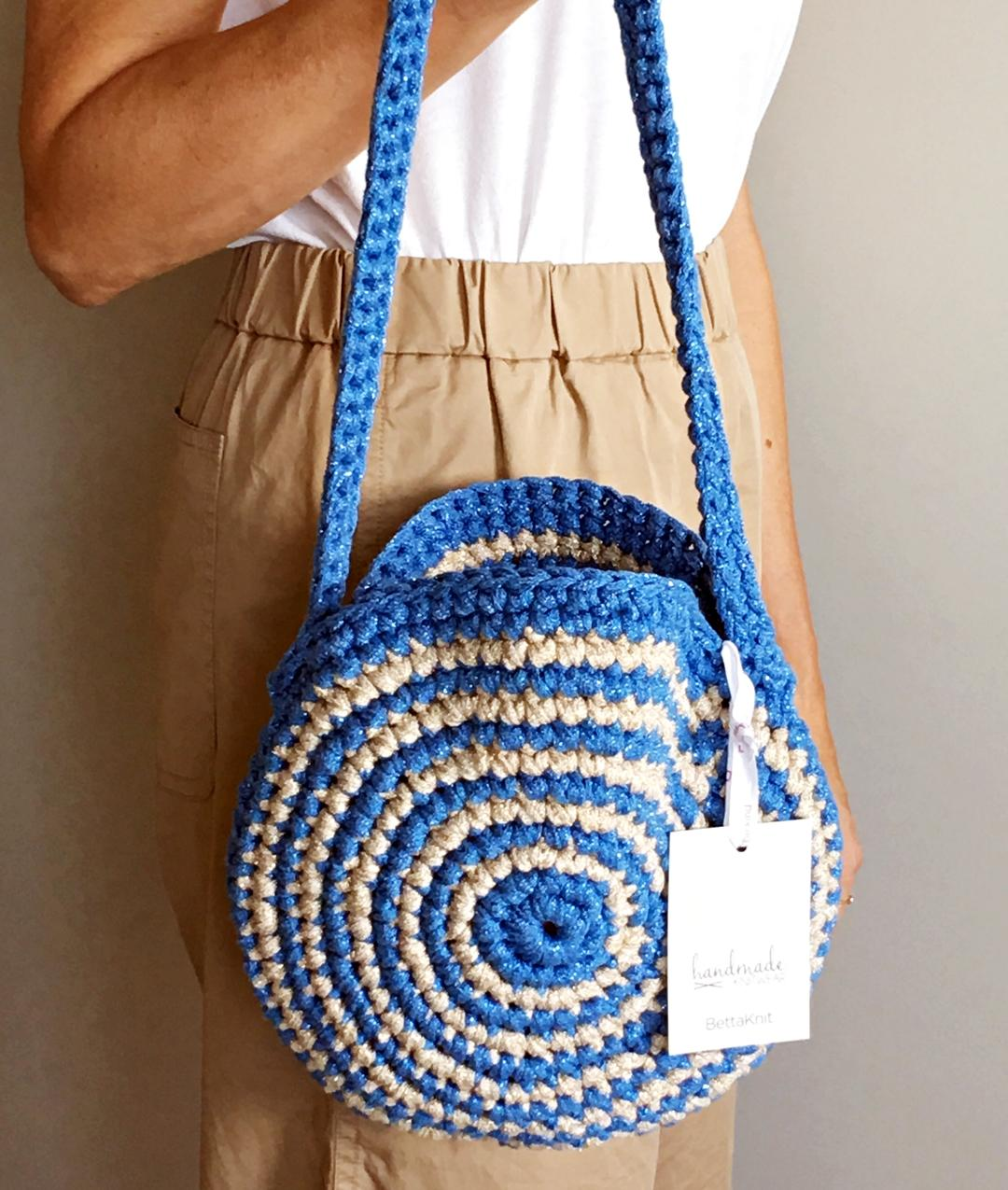 - AROUND ME BAG - Azure/Light Gold -