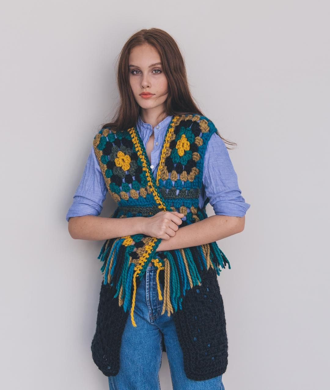 Fall / Winter 2018-19 Collection - Sweater and Cardigan - Granny Coachella Vest - 1