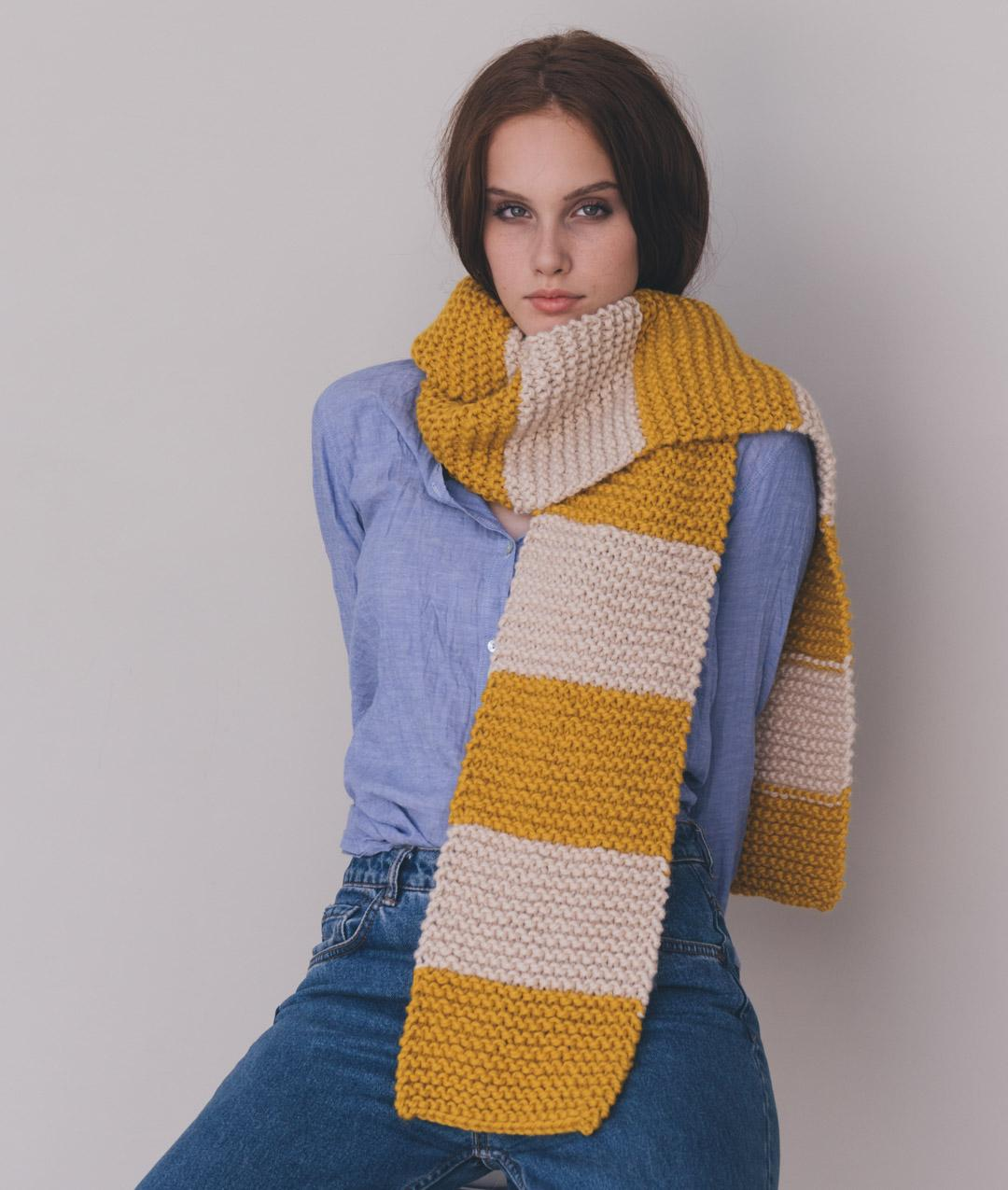 Fall / Winter 2018-19 Collection - Cardigans and Vests Fall / Winter 2018-19 Collection - Scarves and Snoods - AMARIE SCARF - 1