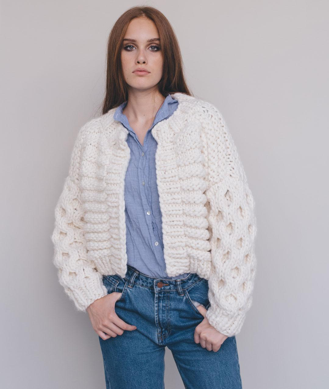 Cardigans and Vests  - Wool - Arwen Bomber - 1