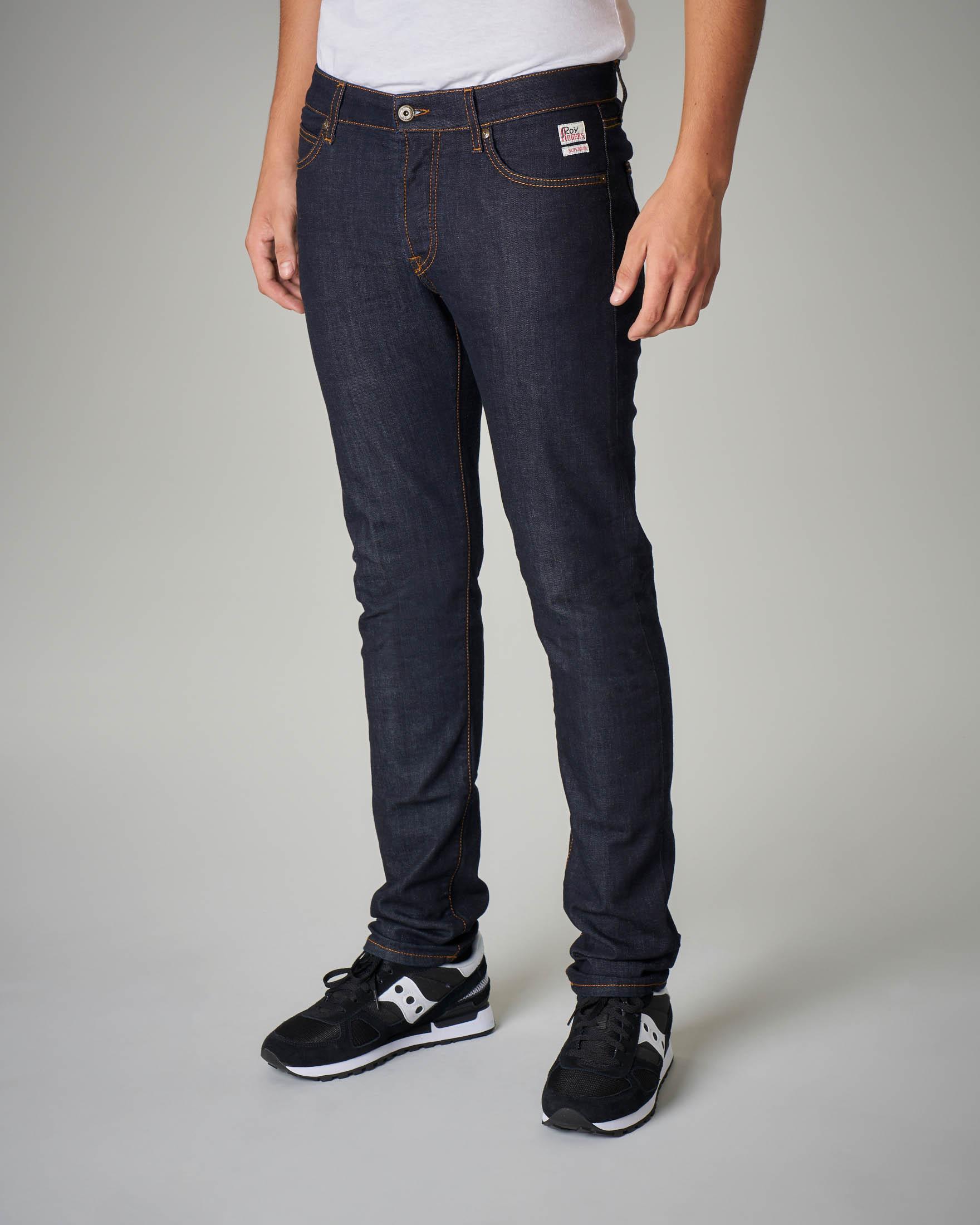 Jeans lavaggio scuro vita media
