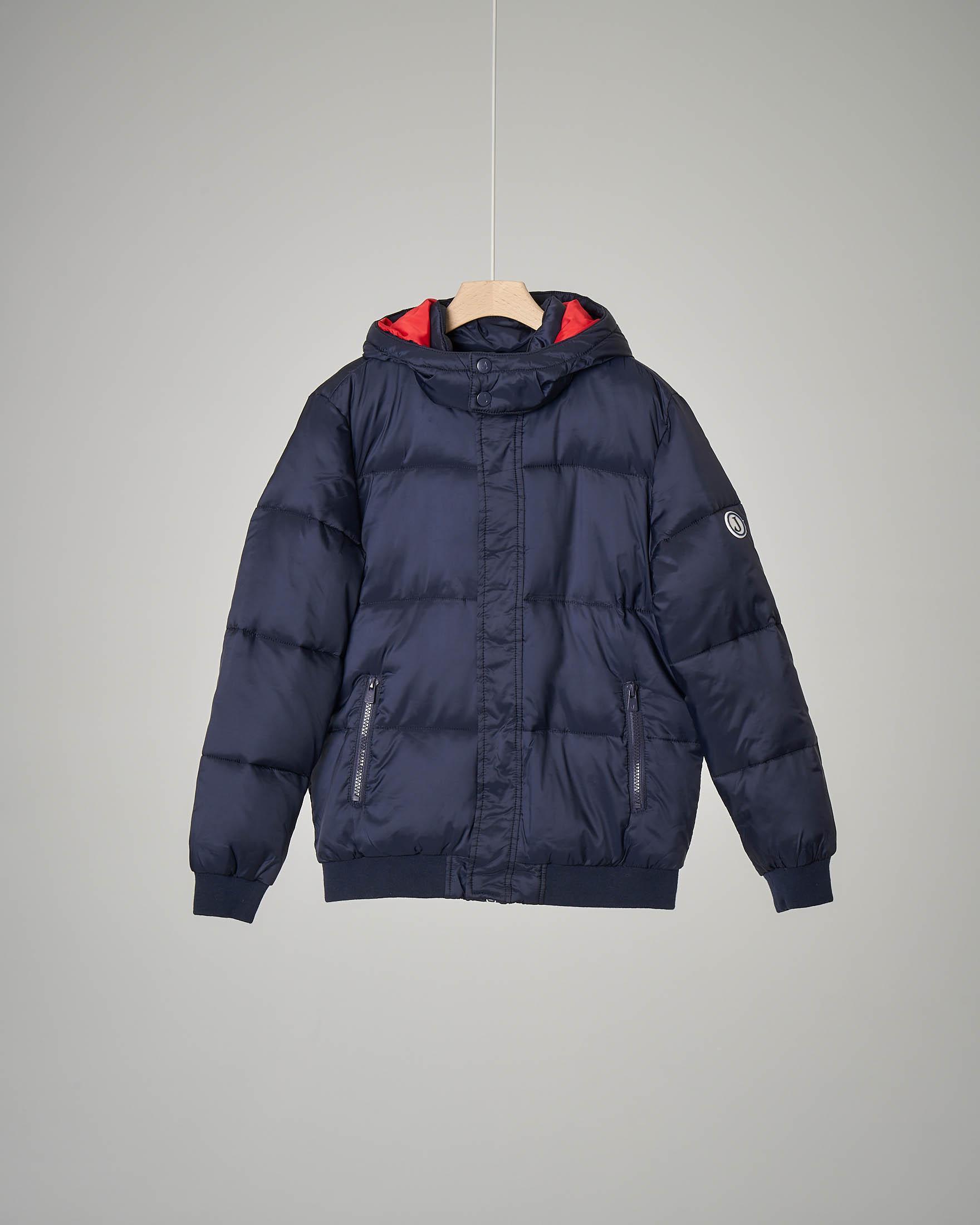5401381884 Piumino bomber blu con cappuccio | Pellizzari E-commerce