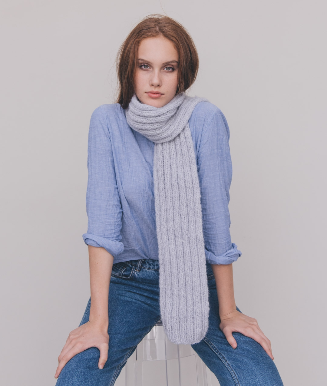Scarves and Snoods - Wool - DOUBLE SUGAR SCARF - 1
