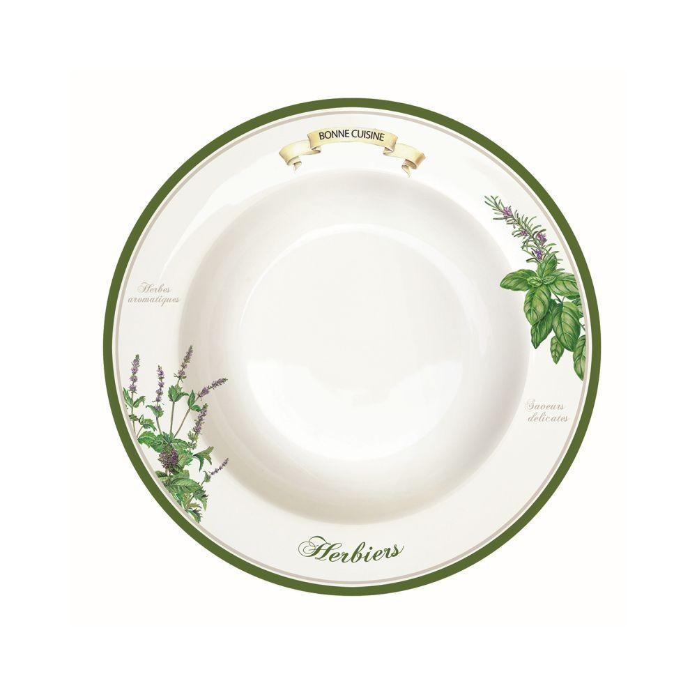 Acquista Piatto Fondo 21 5cm Linea Herbieres 17493134 | Glooke.com