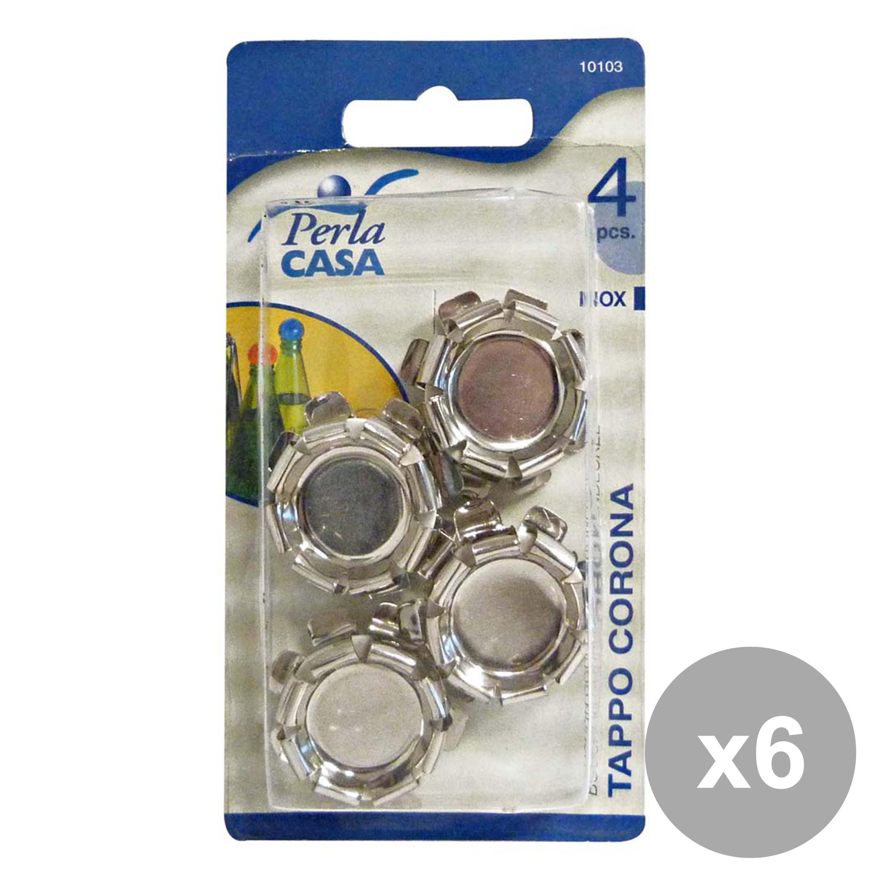 Acquista Set 6 Tappo Corona Inox Pezzi 17503980   Glooke.com