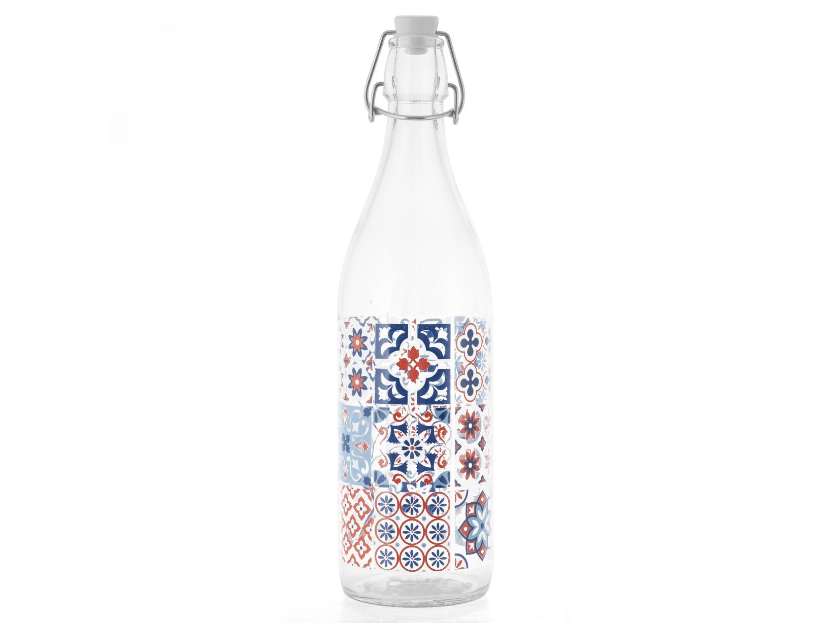 Acquista Set 6 Bottiglia Vetro Decoro Maiorca 17506557 | Glooke.com