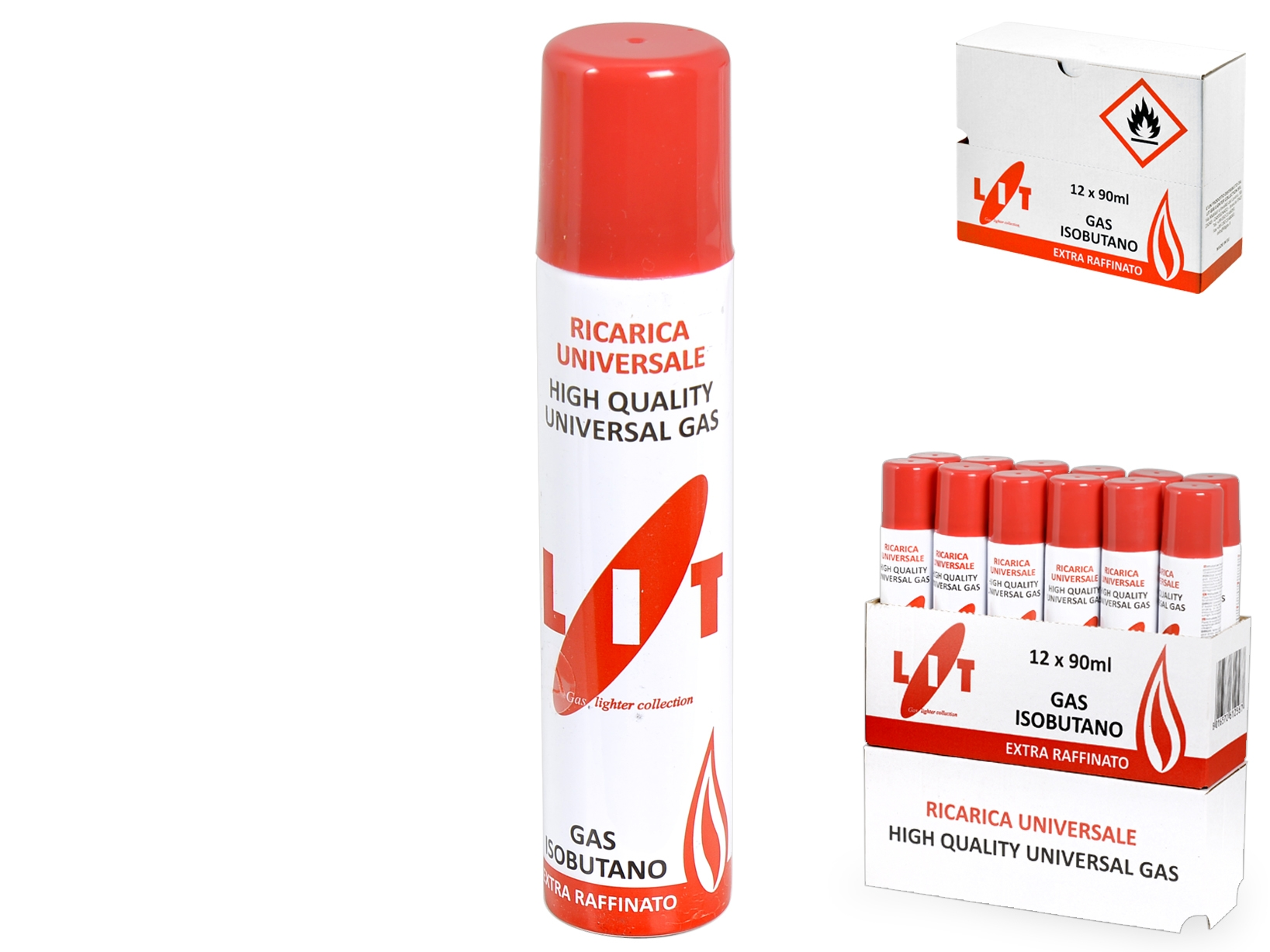 Acquista Set 12 Ricarica Gas X Accendini 17513748 | Glooke.com