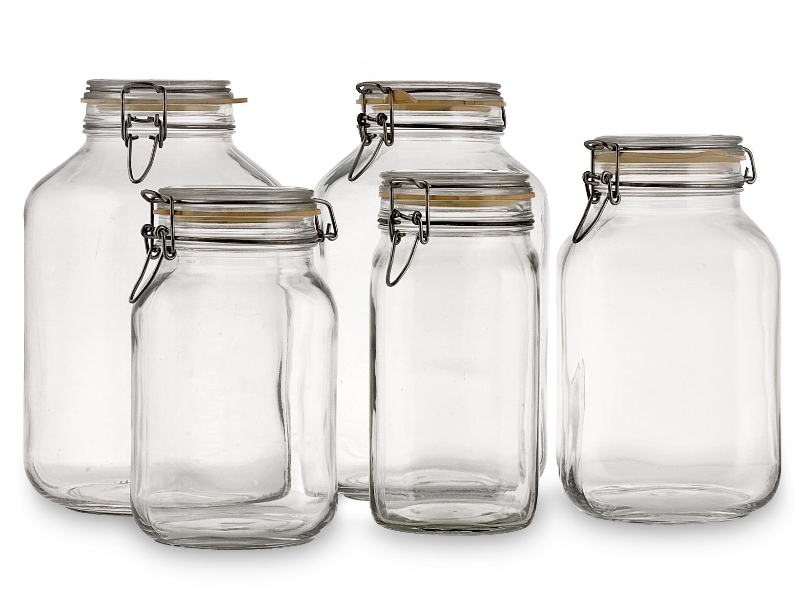 Acquista Set 6 Vasi Vetro Fido Tappo Ermetico 17523560 | Glooke.com