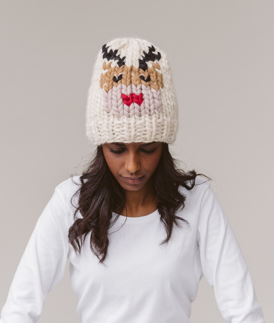 Hats and Beanies - 2 HOURS KITS - XMAS BEANIE - Reindeer - 1