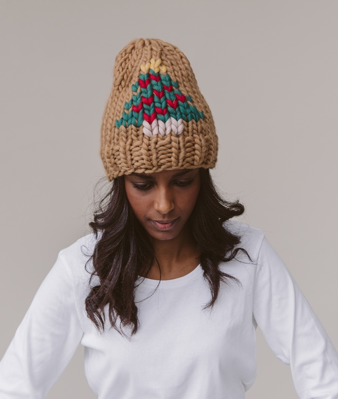 Hats and Beanies - WoolHats and Beanies - Wool - XMAS BEANIE - Xmas Tree - 1