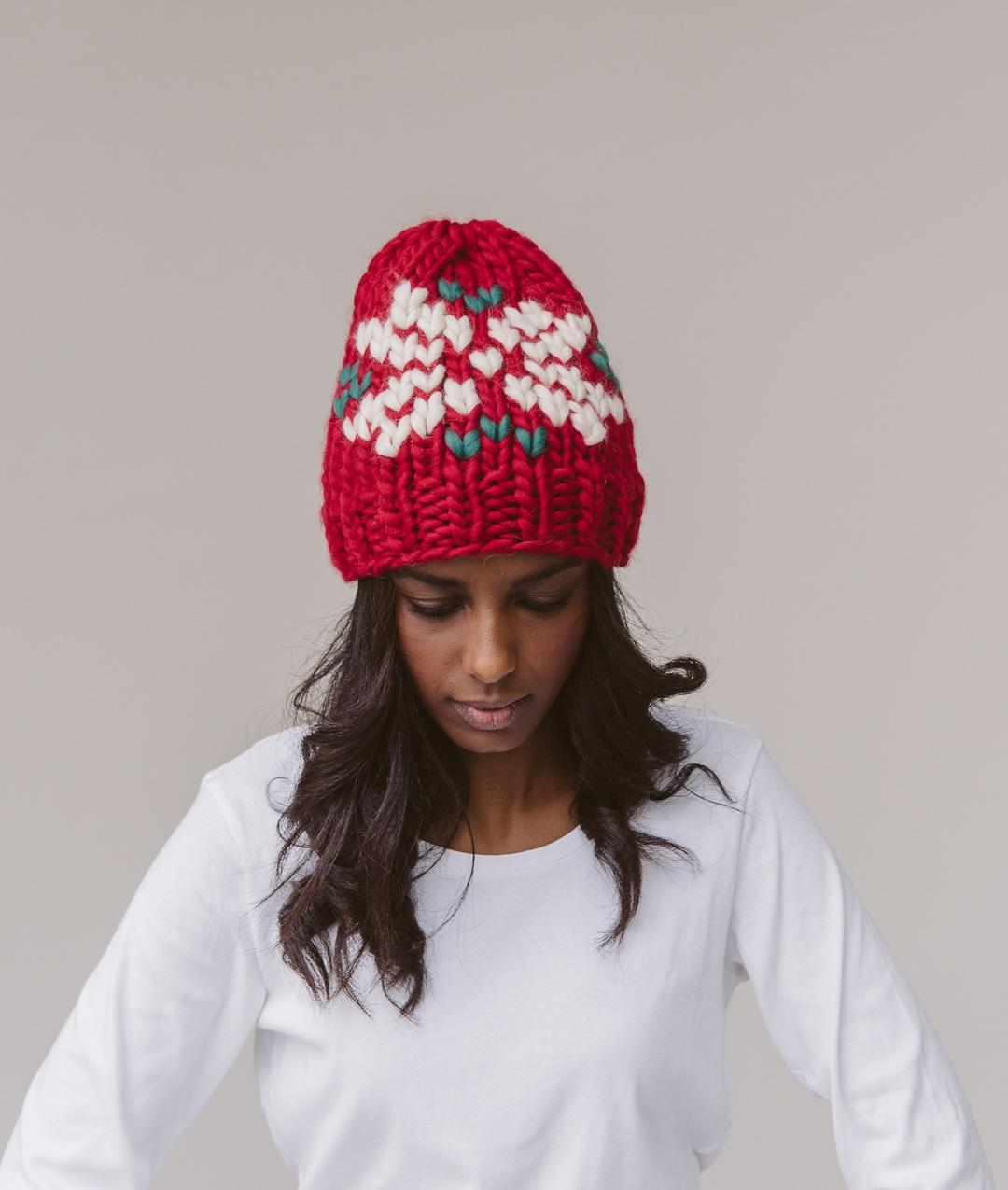 Hats and Beanies - WoolHats and Beanies - Wool - XMAS BEANIE - Edelweiss - 1