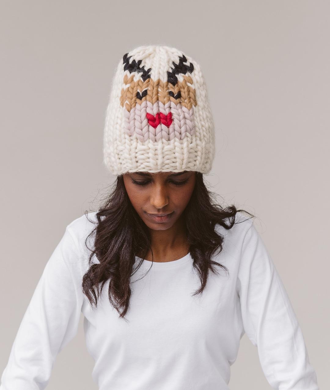 Ready Made - XMAS BEANIE - Reindeer - Handmade - 1