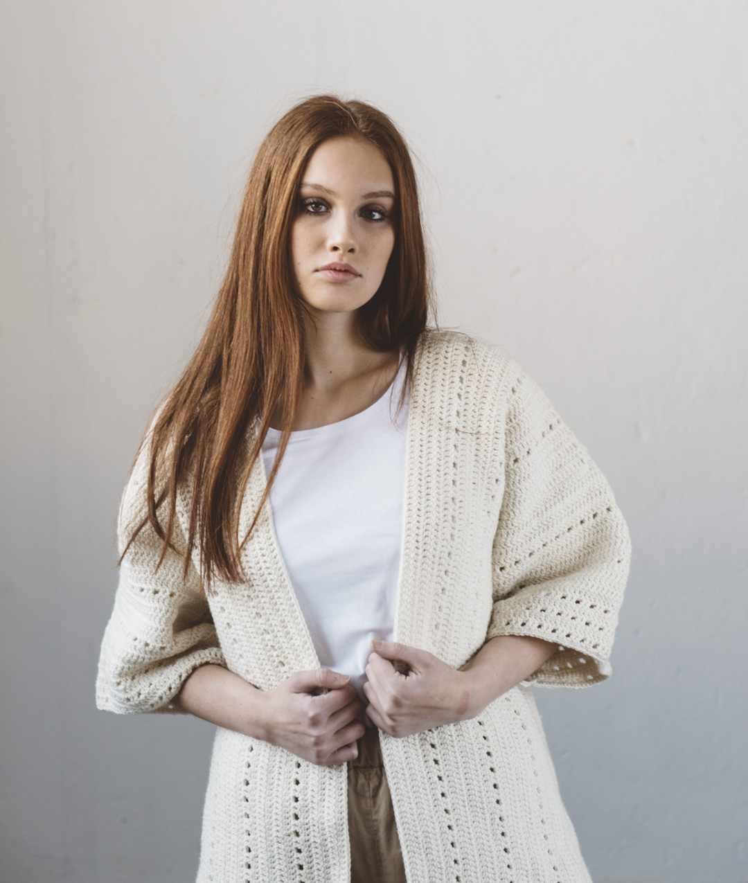 Sweater and Cardigan - Wool - Milagros Kimono - 1
