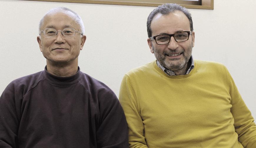 Naoe with Sandro Parisotto (CEO SCARPA spa)