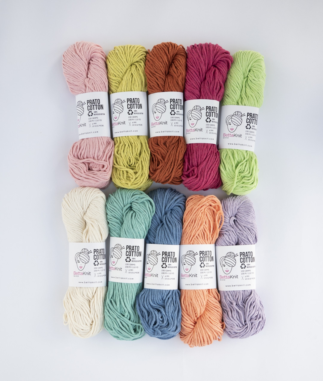 Pack of Yarn - Prato Cotton Pack - 10 balls - 1