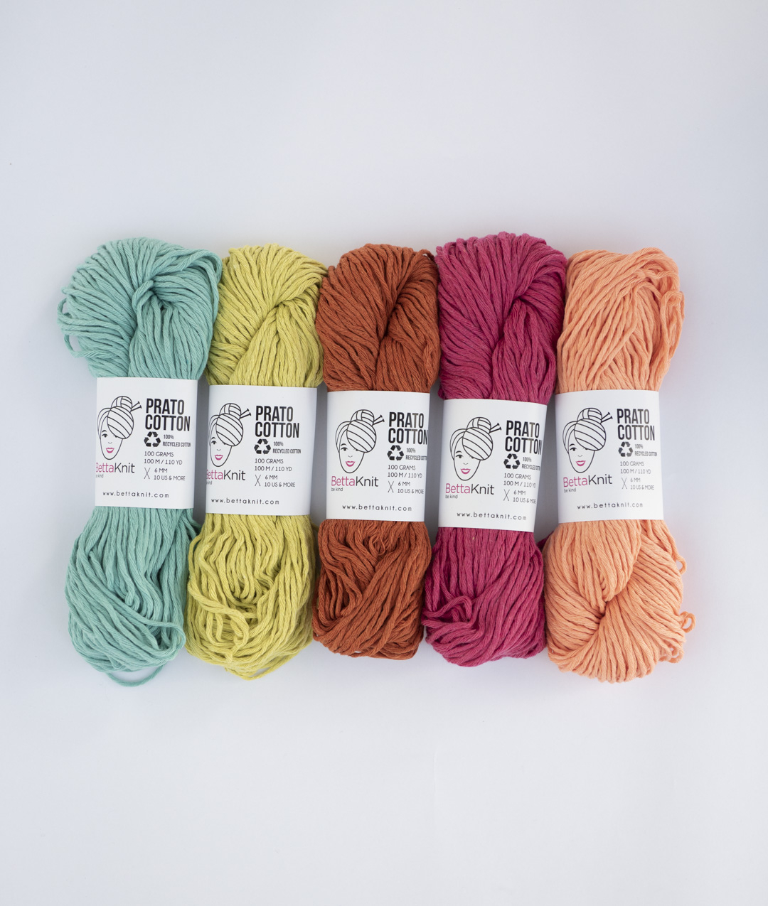 Pack of Yarn -  - Prato Cotton Pack - 5 balls - 1