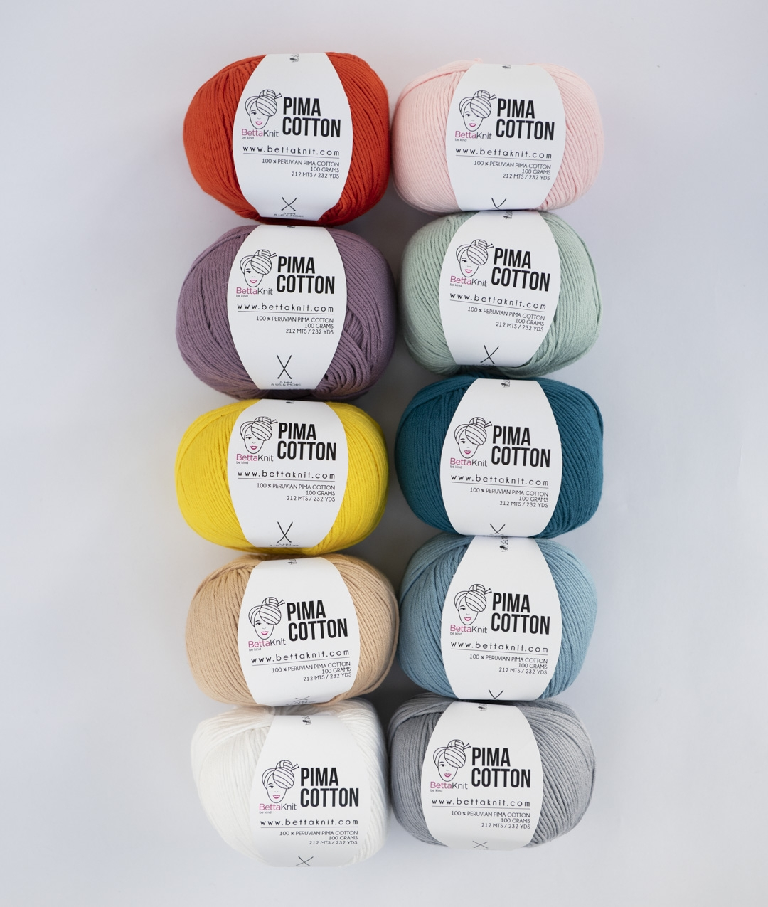 Pack of Yarn - Pima Cotton Pack - 10 balls - 1