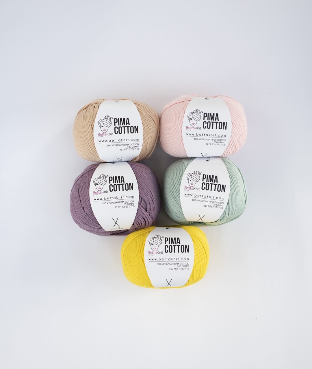 Pack of Yarn -  - Pima Cotton Pack - 5 balls  - 1