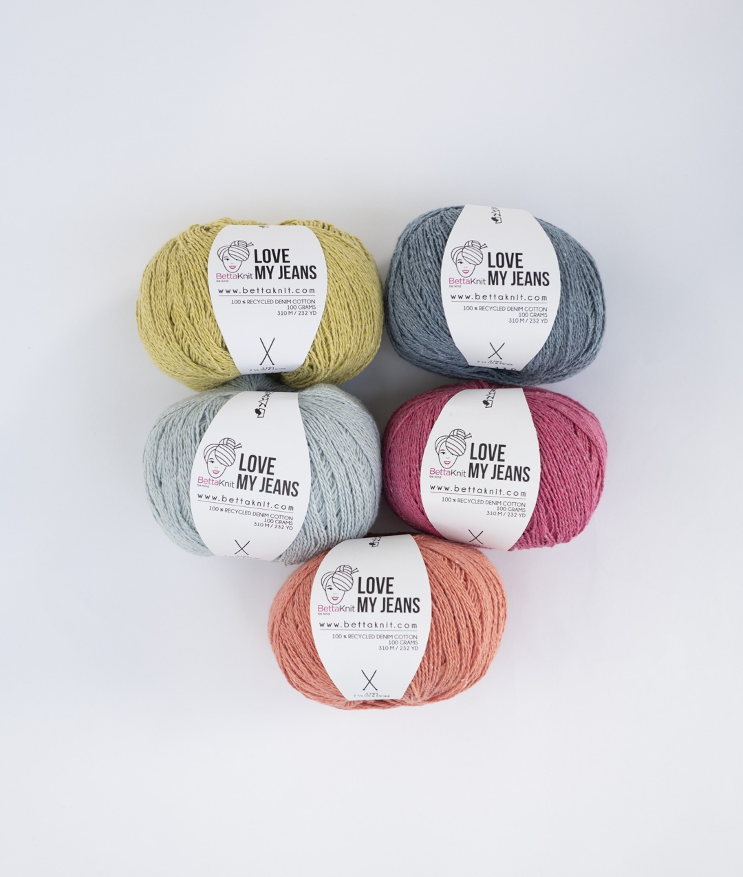 Pack of Yarn - Love My Jeans Pack - 5 balls  - 1
