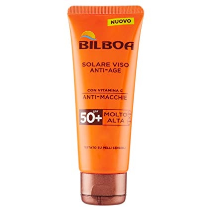Bilboa - Solare Viso Antiage, con Vitamina C anti-Macchie 50 spf - 75 ml