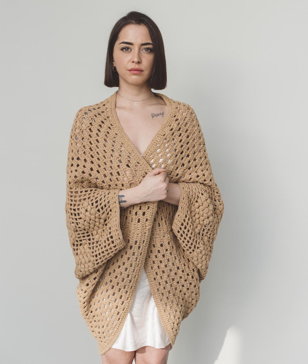 New In - Crochet Kits - CECILE SHRUG - 1