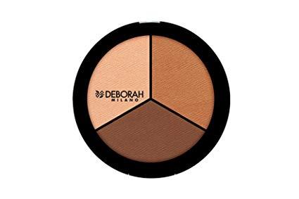 Deborah Trio contouring palette 02 pelli scure/olivastre