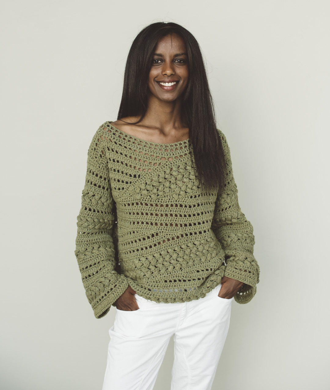 Crochet Kits - Sweaters and Tops - ELISEE PULL - 1