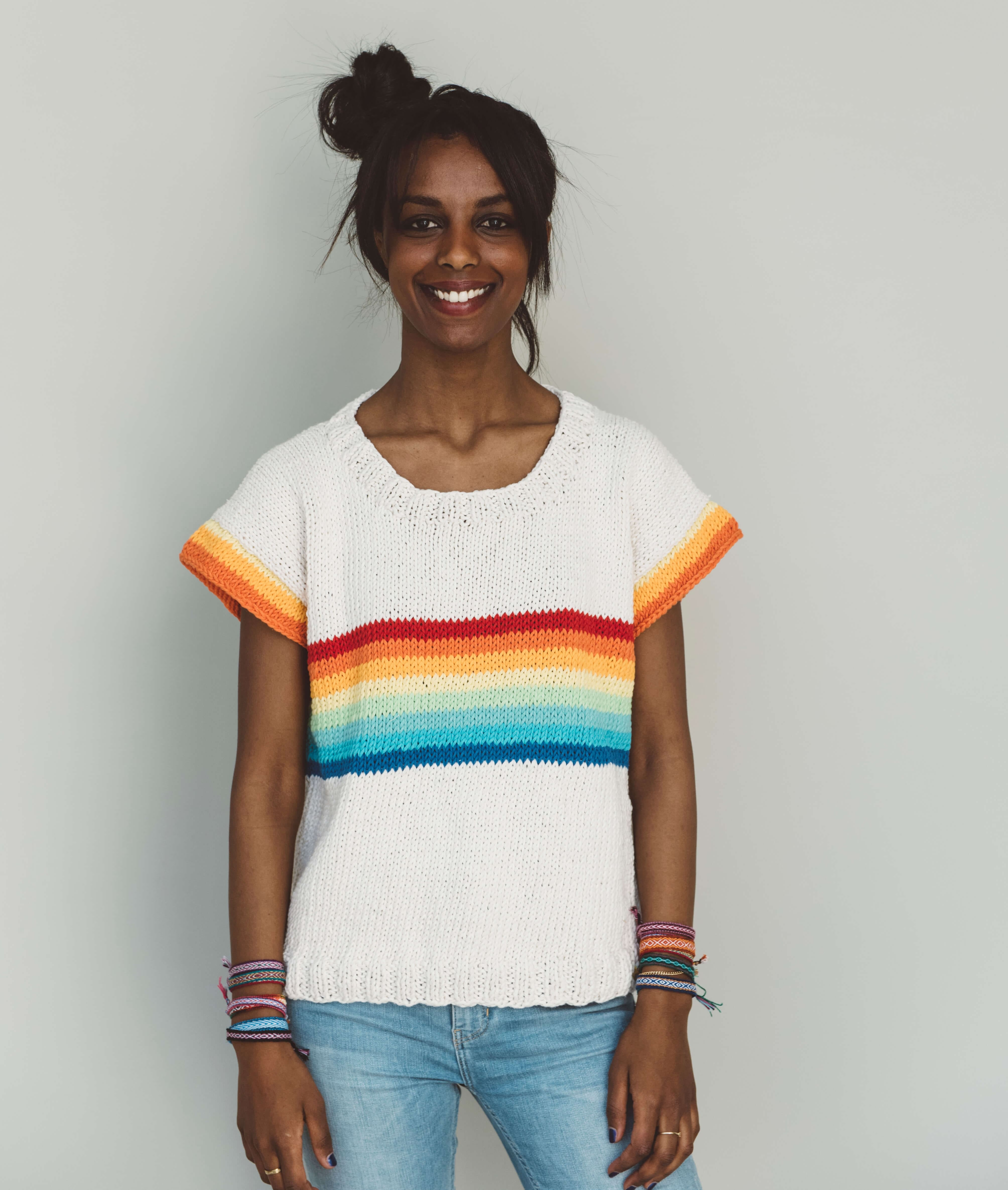 Sweaters and Tops - Cotton - RAINBOW TEE - 1