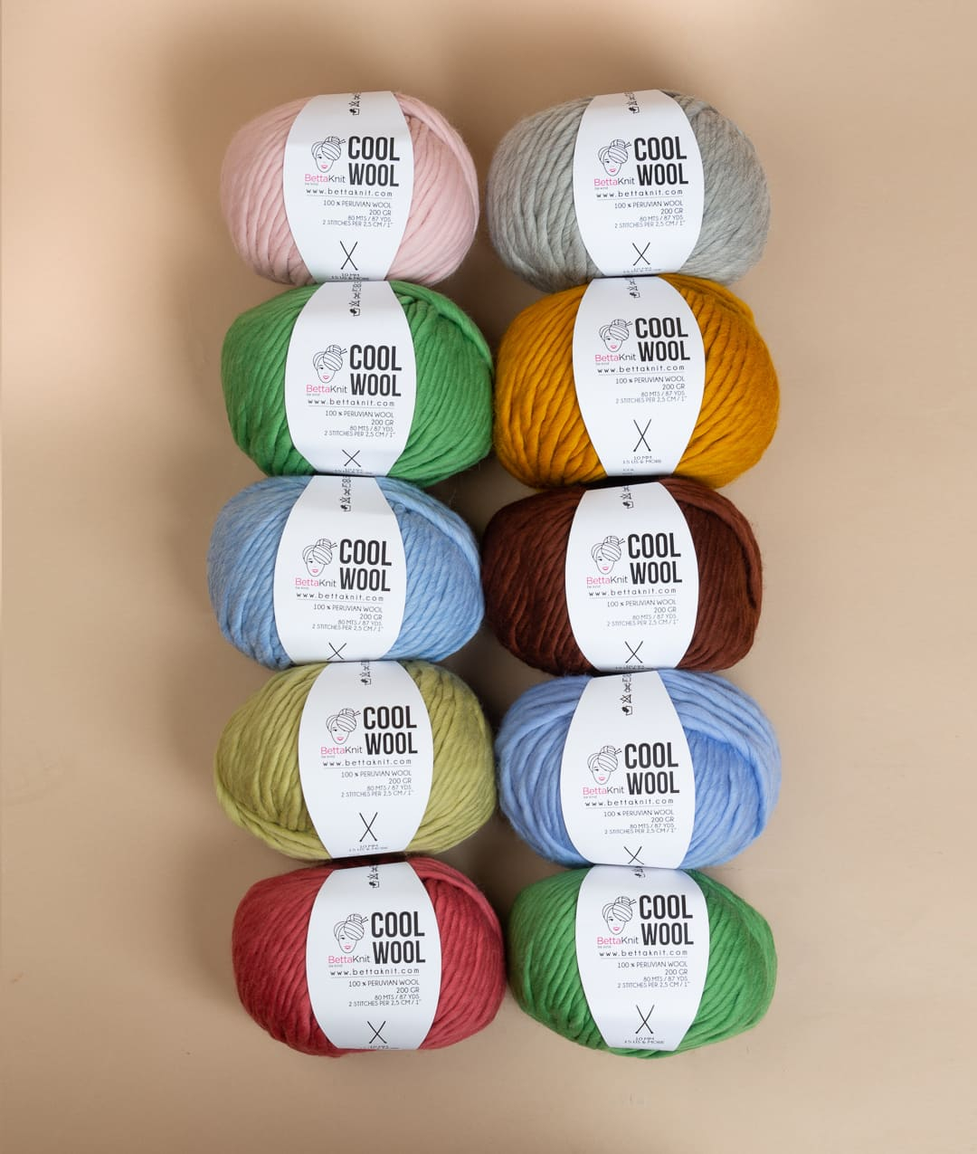 Packs of Skeins - Cool Wool Pack - 10 skeins - 1