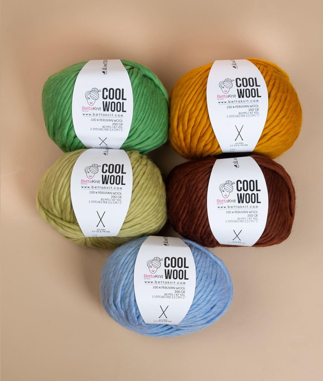 Packs of Skeins - Cool Wool Pack - 5 skeins - 1