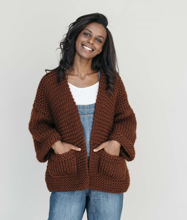 Easy Wool Collection - Cardigans and Vests  - GWEN CARDIGAN - 1