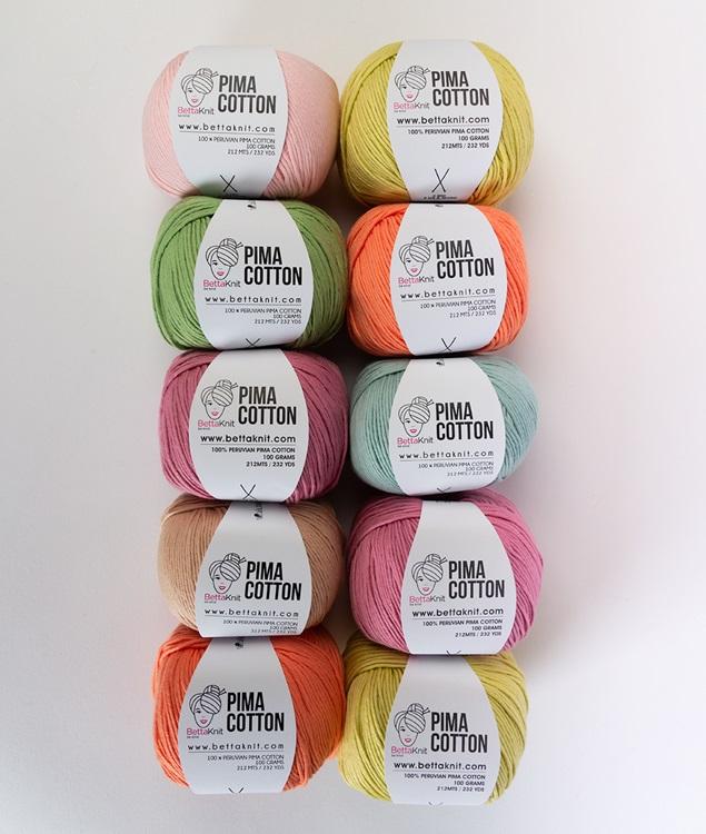 Packs of Skeins - Pima Cotton Pack - 10 skeins - 1