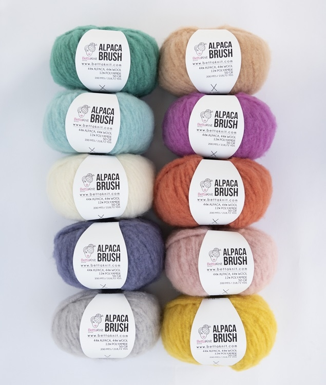 Packs of Skeins - ALPACA BRUSH Pack - 10 skeins - 1
