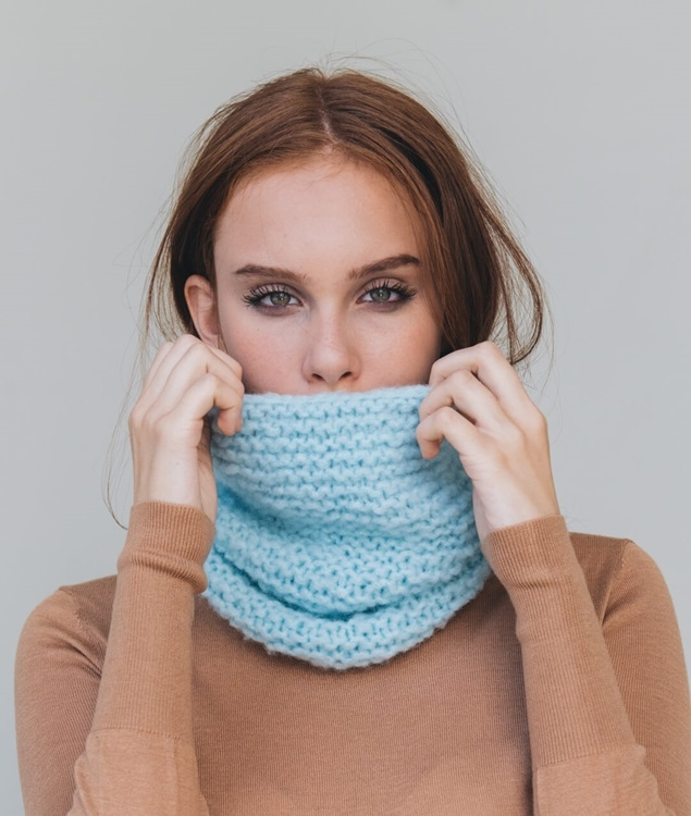 Hats and Beanies - WoolScarves and Snoods - Wool - CANDY DONUT SNOOD - 1