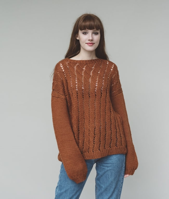 Woolpaca Collection - Sweaters and Tops - Autumn Twist Pull - 1