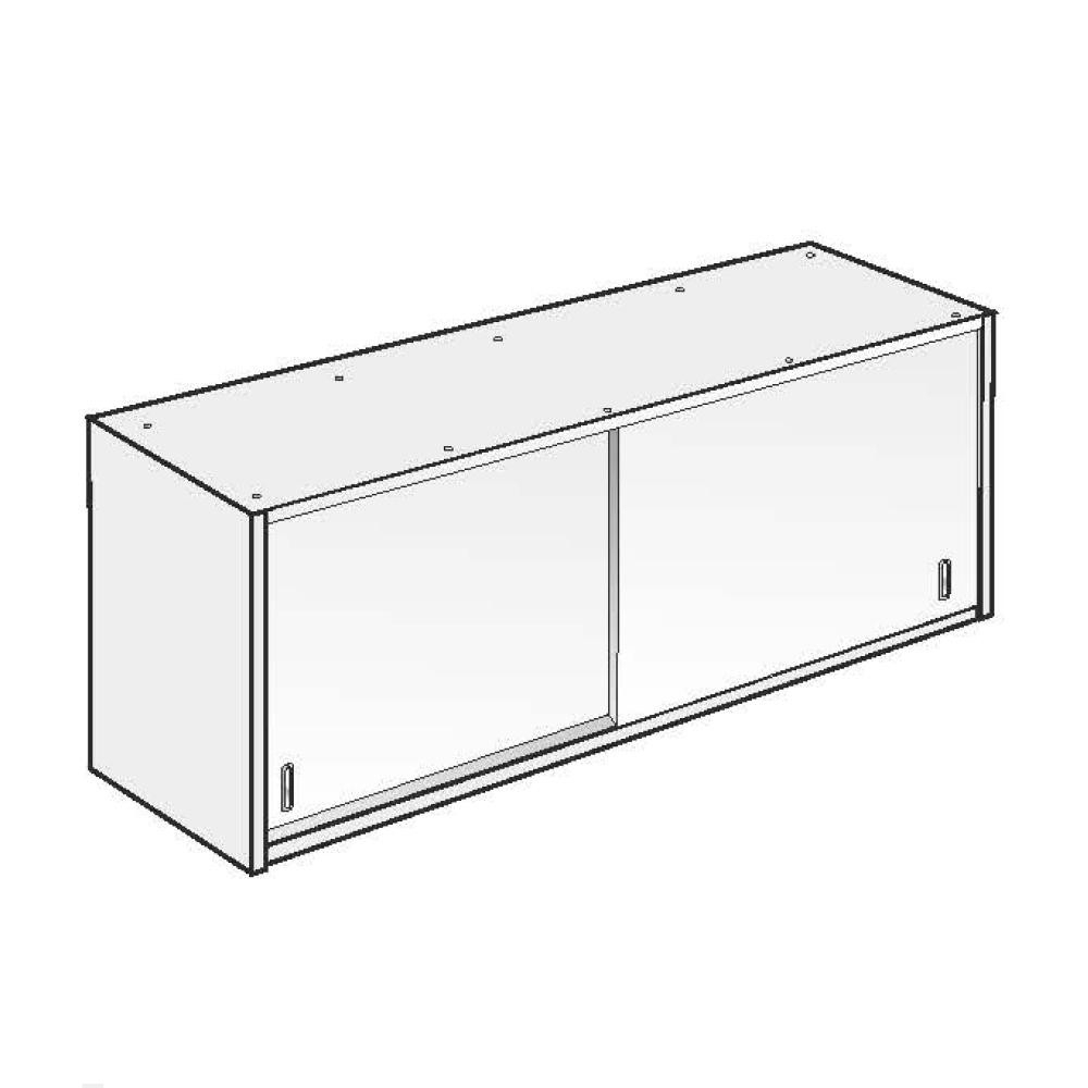 Armadio Pensile ACA Inoxline AISI 304 (L) 140 x (H) 60 cm