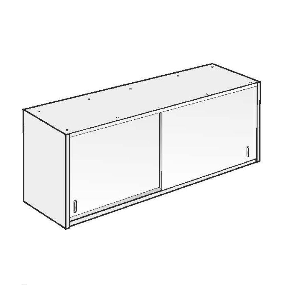 Armadio Pensile ACA Inoxline AISI 304 (L) 180 x (H) 60 cm