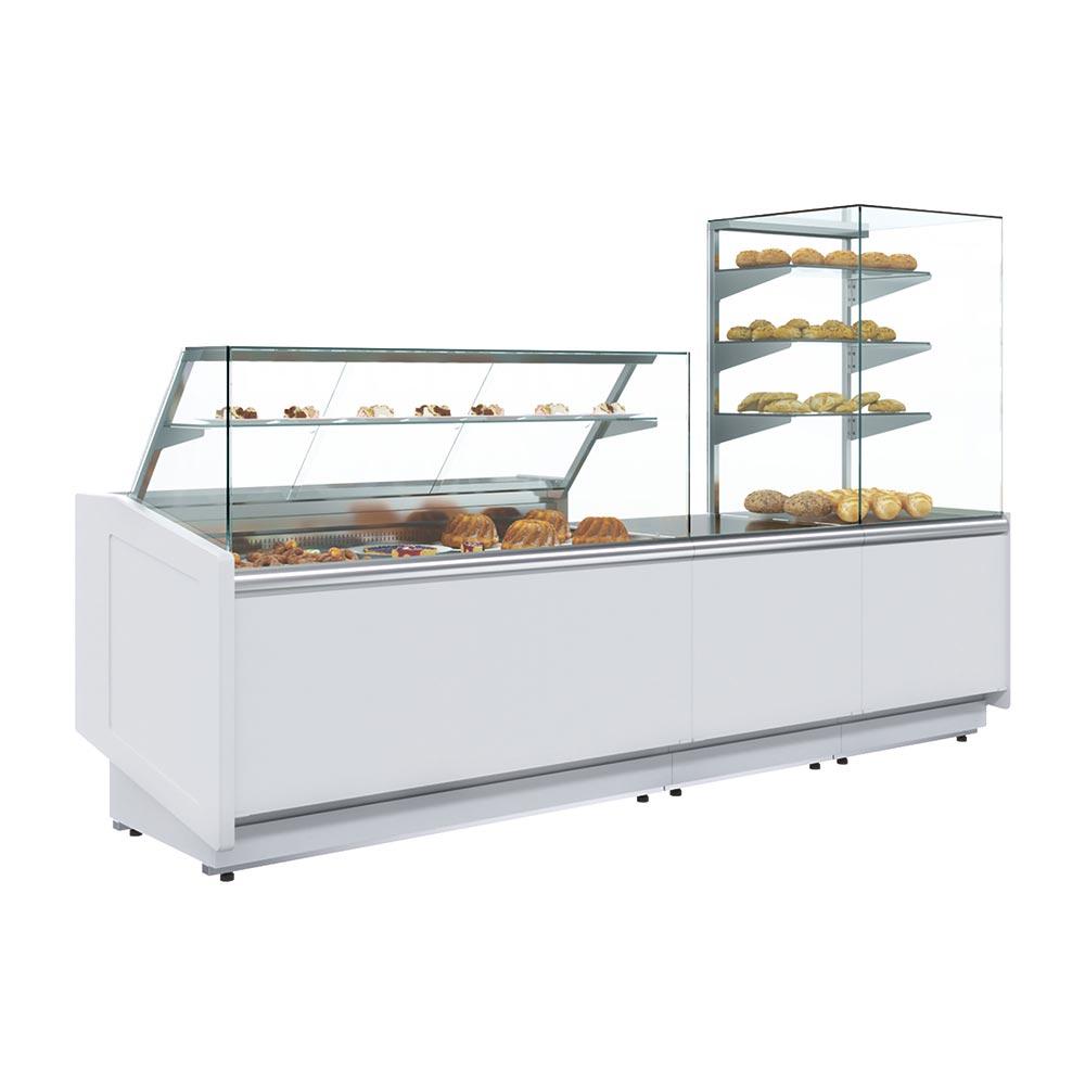 Banco Alimentare Vetrina Espositiva Calda Mec KC80 (Borneo) fino a +65 °C - Dim. 118х84х123 cm