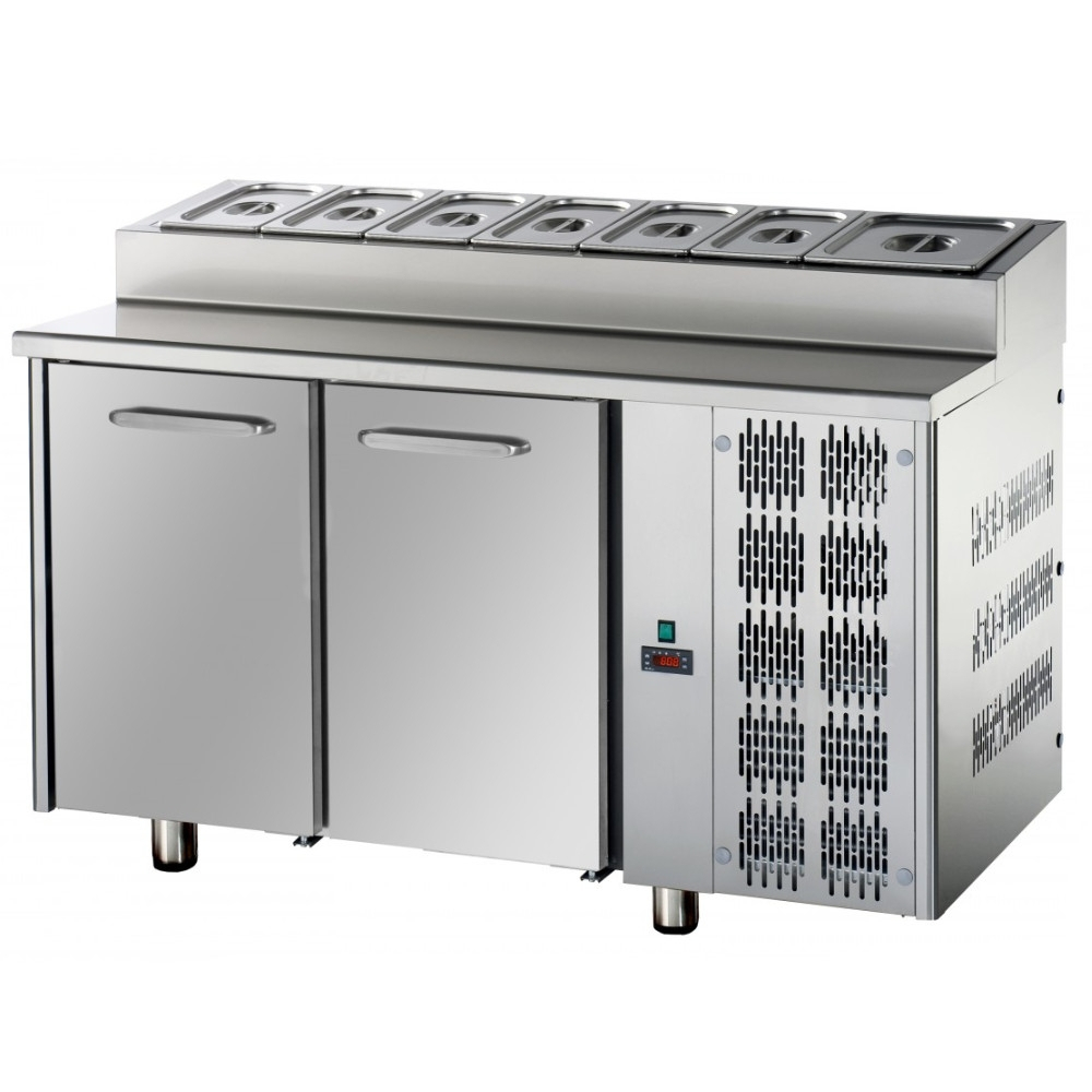 Tavolo Refrigerato Snack Tecnodom 2 Porte GN 1/1 Capacità 7 x GN 1/3