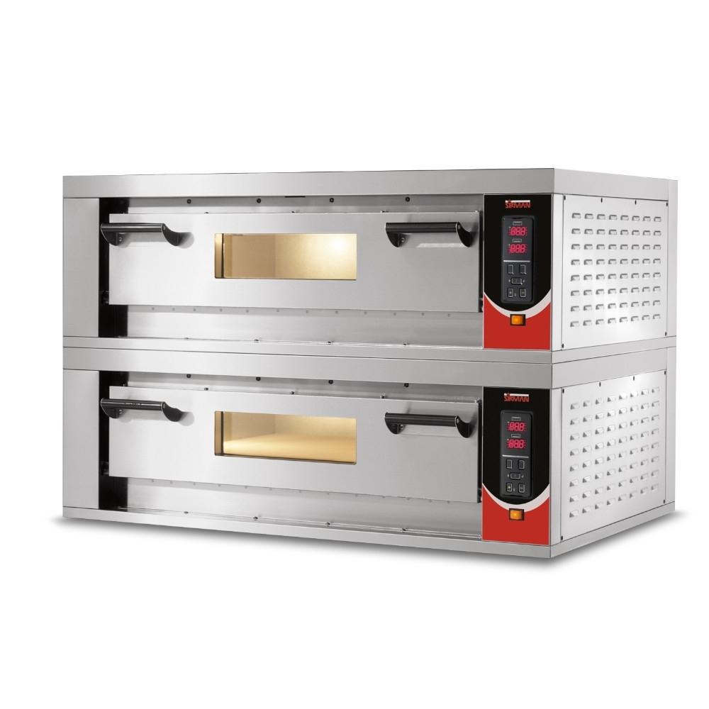 Forno Pizza Professionale Sirman Vesuvio 85x70 - 4+4 x Ø 36 cm o 2+2 Teglie 60 x 40 cm